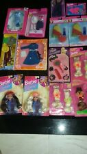 BARBIE DOLL CLOTHES fashions & HAIR WIGS LOT OF 14 ALL VINTAGE and NEW FREE SHIP