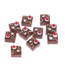 1/12 Dollhouse Miniature Gâteau Dessert Food Gâteau au chocolat miniature