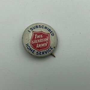 1917 Salvation Army I Subscribed Home Services Lynch Button Badge Pinback  A3