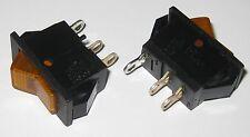 2 X Swann Industries Illuminated Rocker Switch Spst 125v 15a Lighted Amber