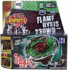 Flame Byxis Metal Masters Beyblade Starter Set Launcher Ripcord NIP - USA SELLER