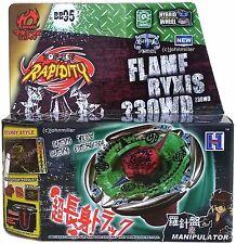 Flame Byxis Metal Masters Beyblade Starter Set Launcher Ripcord NIP - USA SELLER