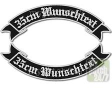 Rückenaufnäher, BikerPatch -Schwinge V2- SET 35cm Wunschtext, Rocker, Kutte, MC