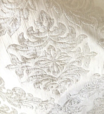 NEW Double Sided Burnout Chenille Velvet Fabric- Pearl-Upholstery Damask Brocade