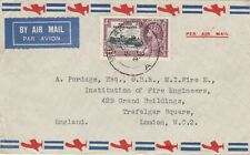 Malaya 1935 Straits Settlements Silver Jubilee 25c cover Singapore to England