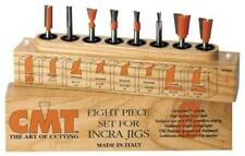 "CMT 8-Piece Dovetail & Straight Bit Set 1/4"" shanks for INCRA & JOINTECH JIG 800"