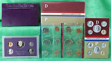 1984 Proof and Uncirculated Annual US Mint Coin Sets PDS 15 Coins FREE US SHIP