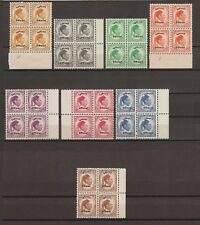 LIBYA 1952 SG O192/O199 MNH Blocks Cat £196