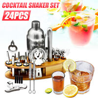 24Pcs 750ML Cocktail Shaker Mixer Martini Bartender Drink Maker Bar Tool w/ Base