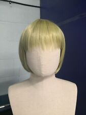 Short Pale Olive Green Synthetic Cosplay Wig
