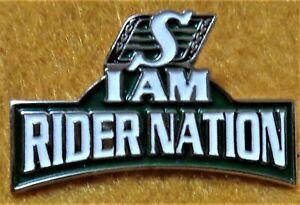 CFL Saskatchewan Roughriders I AM RIDER NATION Pin