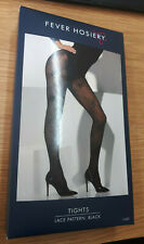 Fever Hosiery Lace Pattern Black Tights