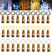 10pcs Wine Bottle Fairy String Lights 20 LED Battery Cork For Party Xmas Wedding