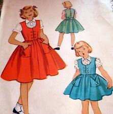 *LOVELY VTG 1950s GIRLS JUMPER & BLOUSE  Sewing Pattern 6