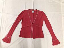 Very Cute Tabitha Anthropologie Knitted Cardigan 100% Cotton Orange Women's M