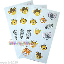 JUNGLE SAFARI ANIMALS PUFFY STICKERS (3 sheets) ~ Birthday Party Supplies Favors