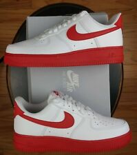 Nike Air Force 1 Low Men's Size 8 White/University Red Midsole CK7663-10