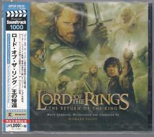 LORD OF THE RINGS THE RETURN OF THE KING HOWARD SHORE JAPAN NEW & SEALED