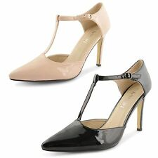 Evening Stiletto Synthetic Leather Shoes for Women
