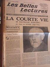 Les Belles Lectures N°129 du 17 au 23 Novembre 1948/ Aldramin: la courte vie