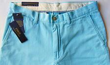 Men's POLO RALPH LAUREN Aqua Blue Chino Pants 50Bx32 50x32 NWT NEW Classic Fit