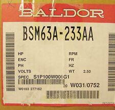 BALDOR 6000 RPM 200 V AC SMCO Servo Motor BSM63A 233AA