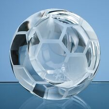 Engraved Personalised Glass Football Paperweight Dad Grandad Brother Gift
