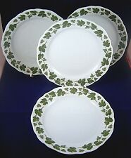 4 HUTSCHENREUTHER SALAD PLATES WEINLAUB Grape Leaves Green Maria Teresia White