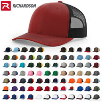 Richardson Trucker Hat Adjustable Ball Cap Mesh on Back Snapback Cap 112