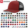 Richardson Trucker Hat Adjustable Ball Cap Mesh on Back Snapback Cap 112