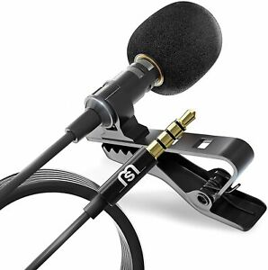 Lavalier Clip-on Lapel Omnidirectional Condenser Mini Microphone Iphone Android