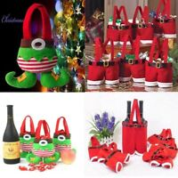 Santa Pants Pouch Kid Gift Candy Bag Wine Bottle Stocking Filler Xmas Decor 2019