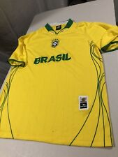 Men's Brasil Drako Soccer Football Jersey Shirt, Yellow Green, One Size