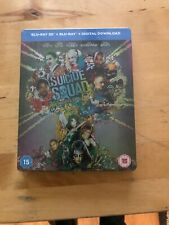 Suicide Squad (HMV Exclusive Steelbook) (3D Blu-ray, 2016) *New & Sealed*