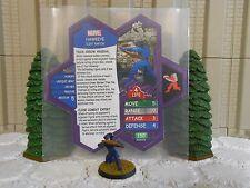 Heroscape Custom Hawkeye Double Sided Card & Figure w/ Sleeve Marvel