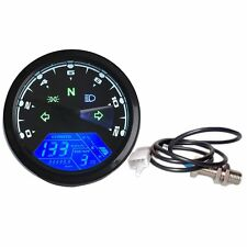 12000rpm Universal Motorcycle LCD Digital Speedometer Tachometer Odometer Gauge