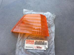 YAMAHA XC125 XC180 XC200 FLASHER LENS LH NOS 25G-83332-00