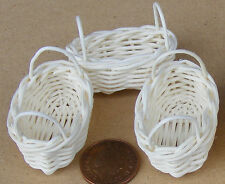 1:12 Scale 3 Handmade Wicker Baskets Tumdee Dolls House Shop Accessory Item W