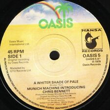 "MUNICH MACHINE/CHRIS BENNETT a whiter shade of pale/it's all wrong 7"" WS EX/"