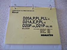 KOMATSU D21A-6 D20A-6, D20P,-6 D21P-6  operation & maintenance MANUAL