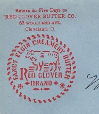 Red Clover Butter  Co Red Cow Logo Cleveland Ohio 1904 Cover 1k
