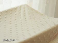 Kidz Kiss Sherpa Fitted Change Mat / Pad Cover Latte / 82x50x15cm Super Soft