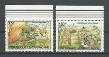 Central African Republic 1984 Sc#631-2  Wildlife Protection  MNH Set $8.50