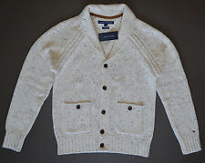 NWT Men's TOMMY HILFIGER Cardigan Sweater, Luxury Blend, Biege, XL, XLarge