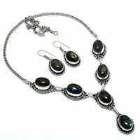 Labradorite Handmade Ethnic Style Necklace & Earring Set Jewelry S-1