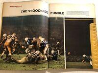 1966 Sports Illustrated KANSAS JAYHAWK Jim RYUN Packers Colts THE UNITAS FUMBLE