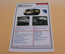JG Planche papier voiture Alpine 1800 Tour Corse 1975 Heco miniatures