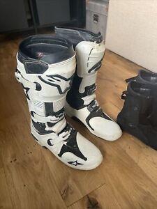 Alpinestars Boots Tech 10 Uk 10 Us 11 Eu 45.5 White