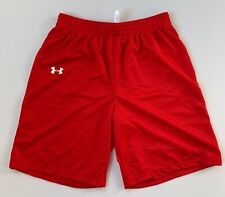 UNDER ARMOUR Mens Mesh Practice Training Shorts | Red | Large | 1323124 | NEW