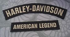 HARLEY-DAVIDSON EMBROIDERED BADGE LEATHER JACKET VEST AMERICAN LEGEND 2 PATCHES